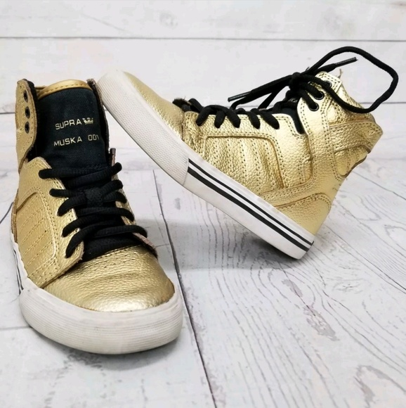 67a1eb1d807 Supra Muska 001 Gold Skytop Sk8 sneakers kids 12. M_5b620d2904e33d5a6acc4b2c